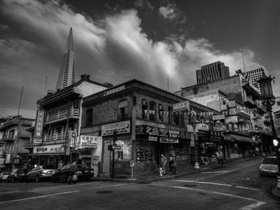 Photograph - San Francisco - Chinatown 002 Bw by Lance Vaughn