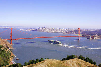 Print featuring the photograph San Francisco - City By The Bay by Art Block Collections