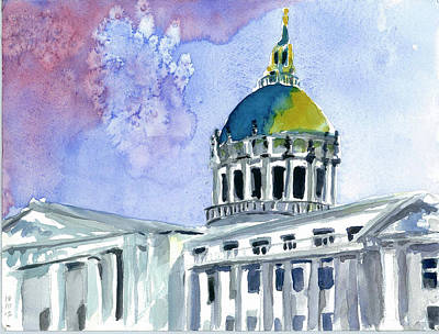 Painting - San Francisco City Hall by Tom Simmons