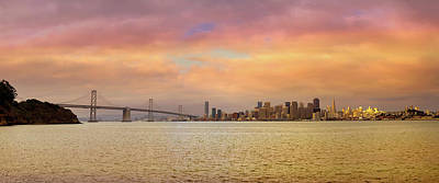 Wall Art - Photograph - San Francisco City Skyline By Bay Bridge by David Gn