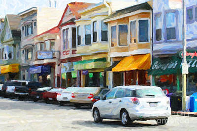 Photograph - San Francisco Clement Street 2 by Wingsdomain Art and Photography