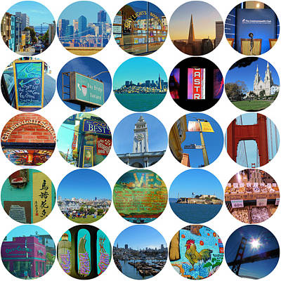Photograph - San Francisco Collage by Michelle Dallocchio