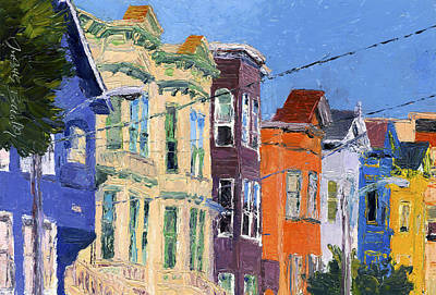 Painting - San Francisco Colorful Buildings by Judith Barath