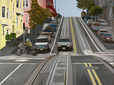 Brilliant Painting - San Francisco Countryside by Avi Lehrer