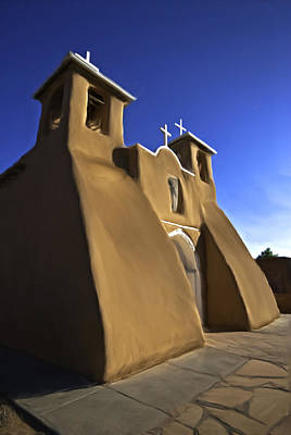 Painting - San Francisco De Asis Church  by Lou  Novick