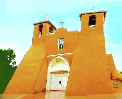 Digital Art - San Francisco De Asis Mission Church by Susan Vineyard
