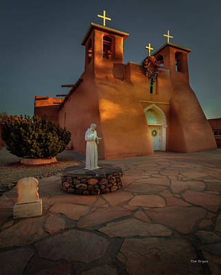 Photograph - San Francisco De Assis Mission Church-taos by Tim Bryan