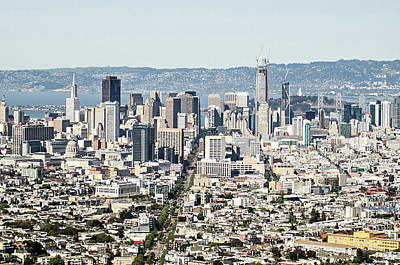 Photograph - San Francisco Downtown City Skyline In California by Alex Grichenko