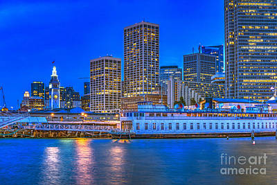 Photograph - San Francisco Downtown Dusk by David Zanzinger