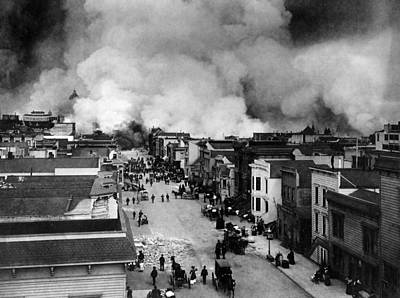 Photograph - San Francisco Earthquake Aftermath - 1906 by War Is Hell Store