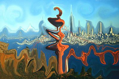 San Francisco Earthquake - Modern Art Art Print