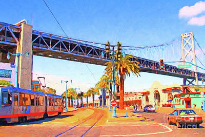 Photograph - San Francisco Embarcadero And The Bay Bridge by San Francisco Art and Photography