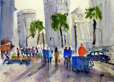 Painting - San Francisco Embarcadero by Tom Simmons