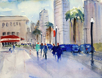 Painting - San Francisco Embarcadero1 by Tom Simmons