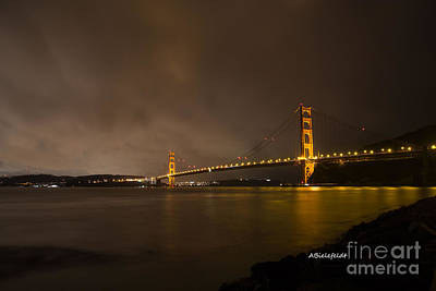 Bridge Photograph - San Francisco- February by April Bielefeldt