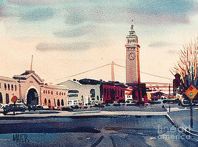 Ferry Painting - San Francisco Ferry Building by Donald Maier