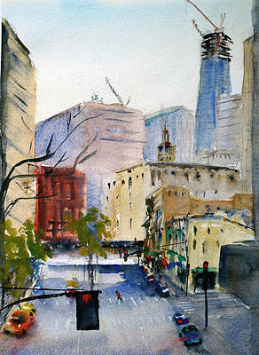 Painting - San Francisco Financial District by Tom Simmons
