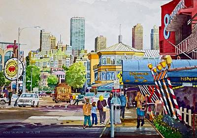 Painting - San Francisco Fisherman's Wharf by Andre Salvador