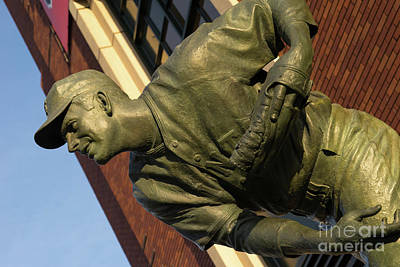 Photograph - San Francisco Giants Att Park Gaylord Perry Statue Dsc5837 by Wingsdomain Art and Photography