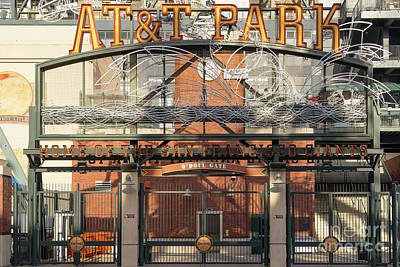 Photograph - San Francisco Giants Att Park Juan Marachal O'doul Gate Entrance Dsc5778 by Wingsdomain Art and Photography