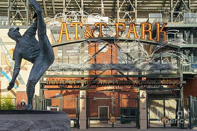 Photograph - San Francisco Giants Att Park Juan Marachal O'doul Gate Entrance Dsc5790 by Wingsdomain Art and Photography
