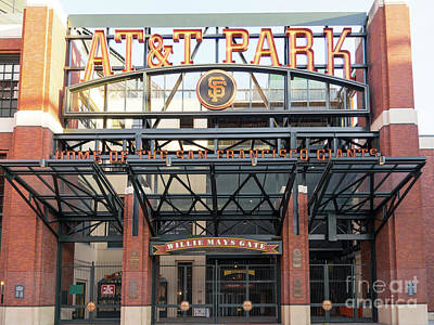 Photograph - San Francisco Giants Att Park Willie Mays Gate Entrance Dsc5831 by Wingsdomain Art and Photography