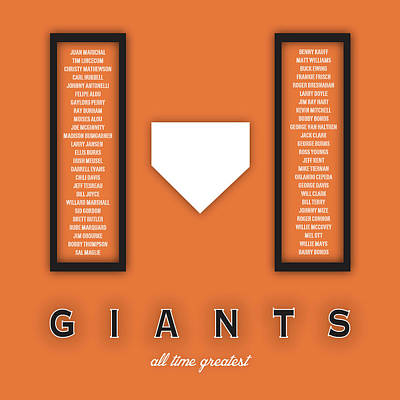 Mlb Digital Art - San Francisco Giants Art - Mlb Baseball Wall Print by Damon Gray
