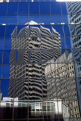 Photograph - San Francisco Mirror Glass Facade by Peter Potter