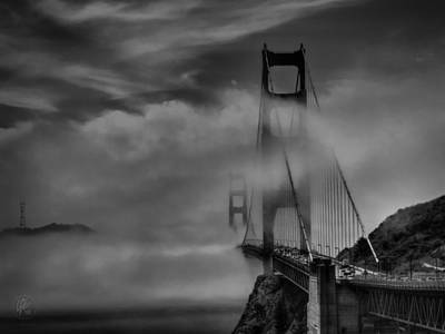 Photograph - San Francisco - Golden Gate Bridge 002 Bw by Lance Vaughn