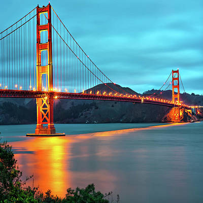Photograph - San Francisco Golden Gate Bridge 1x1 by Gregory Ballos