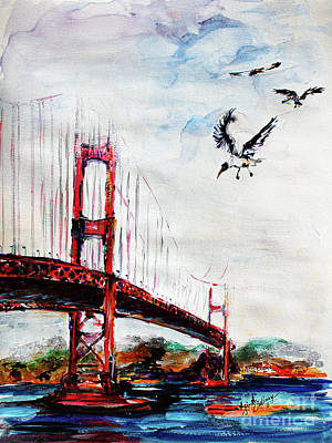 Painting - San Francisco Golden Gate Bridge  by Ginette Callaway