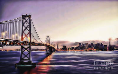 Mixed Media - San Francisco Golden Gate Bridge by Marvin Blaine