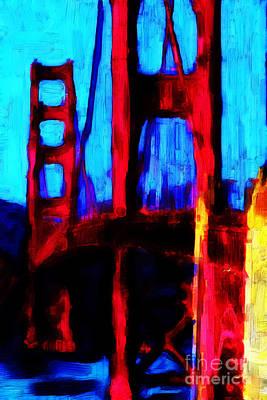 San Francisco Golden Gate Bridge Art Print by Wingsdomain Art and Photography