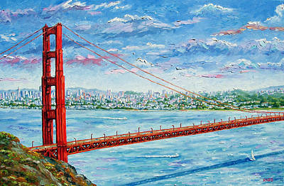 San Francisco - Golden Gate Bridge Original by Mike Rabe