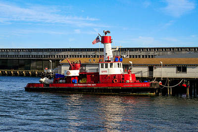 Photograph - San Francisco Guardian Fireboat No 2 by Bonnie Follett