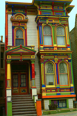 Photograph - San Francisco Haight Ashbury - Hippie Beatnik House 69 by Art America Gallery Peter Potter