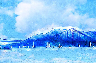 Painting - San Francisco Harbor by Methune Hively