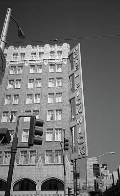 Photograph - San Francisco Hotel Pickwick, 2007 Bw by Frank Romeo