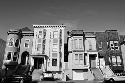 Photograph - San Francisco Houses - Black And White by Matt Harang