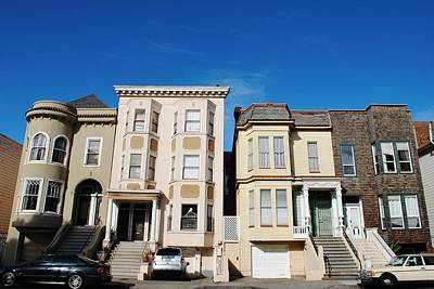Photograph - San Francisco Houses - Blue Sky by Matt Harang
