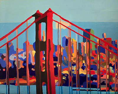 Painting - San Francisco In Color by Tracy Dupuis Roland