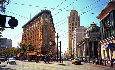 Police Art Photograph - San Francisco Intersection, 2007 by Frank Romeo