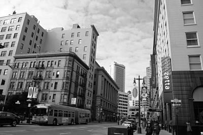 Photograph - San Francisco - Jessie Street View - Black And White by Matt Harang