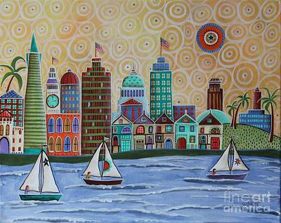 Abstract Skyline Painting - San Francisco by Karla Gerard