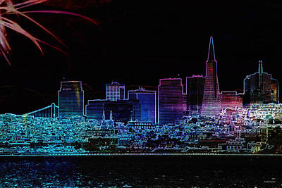 Abstract Skyline Royalty-Free and Rights-Managed Images - San Francisco by Linda Sannuti