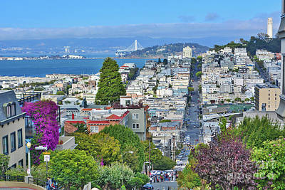Photograph - San Francisco Lombard Street View by Third Eye Perspectives Photographic Fine Art
