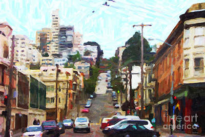 San Francisco Lombard Street Art Print by Wingsdomain Art and Photography