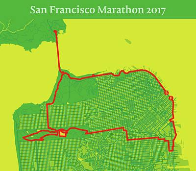 San Francisco Marathon Digital Art - San Francisco Marathon #2 by Big City Artwork