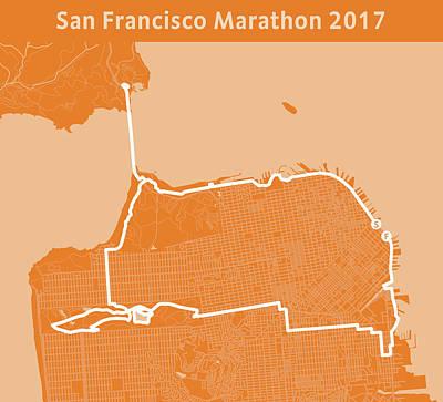 San Francisco Marathon Digital Art - San Francisco Marathon by Big City Artwork