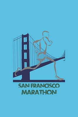 San Francisco Marathon2 Print by Joe Hamilton